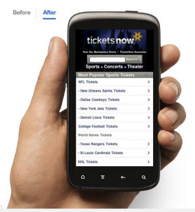 gambar perangkat mobile mengakses mobile website